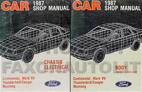 service manuals schematics 1987 ford mustang electronic toll collection 1987 fomoco repair shop manual original vols b d mustang thunderbird cougar marquis