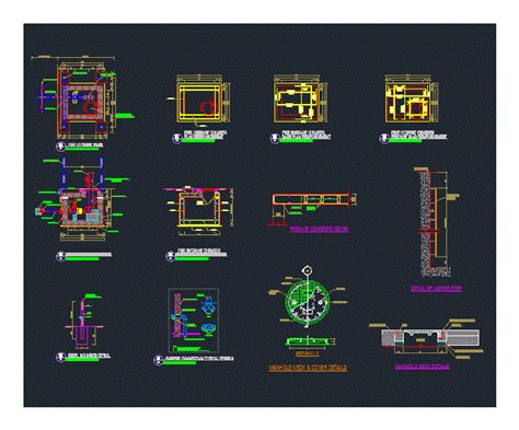 fire hydrant typical details dwg detail  autocad