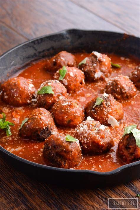 eggplant meatballs  marinara  healthy life