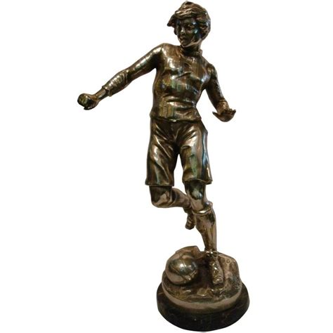 Sale Piala Trophy Figur Chion soccer or football player figure sculpture or trophy 1920s for sale at 1stdibs