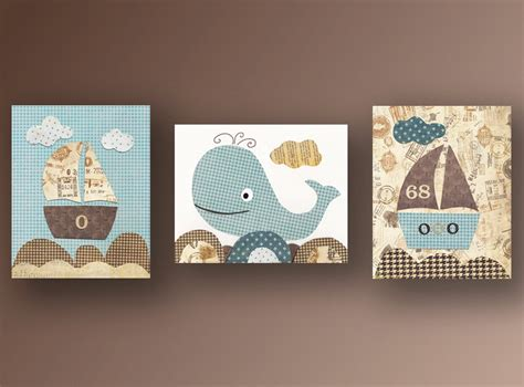 Nautical Nursery Wall Decor Nautical Nursery Wall Children Decor By Galerieanais