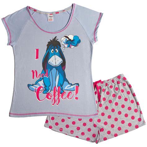 Pyjamas Set Toppants Size Ml womens character pjs pyjamas 2 set top shorts