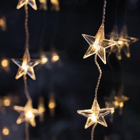 christmas star window lights 40 led warm white star curtain light lights4fun co uk
