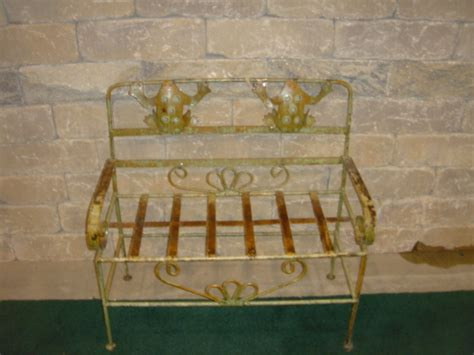 wrought iron butterfly bench wrought iron child s butterfly bench