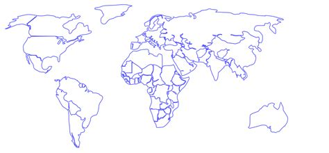 world map outline vector world map outline free vector