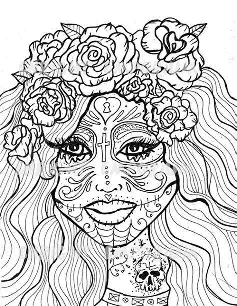 coloring pages for day of the dead day of the dead animal coloring pages for adults day