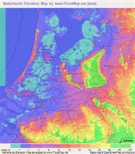 netherlands climate map netherlands elevation and elevation maps of cities topographic map contour