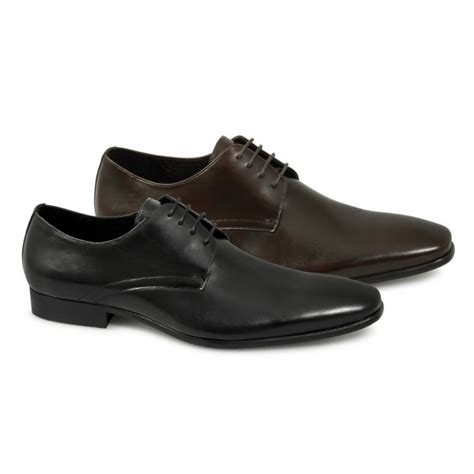 white mens leather office casual formal shoes black