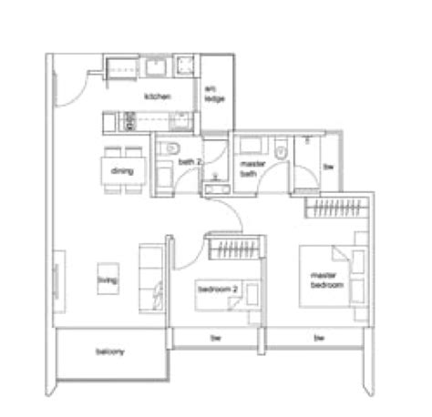 2 bedroom condo floor plans condo launch singapore 2 bedroom condo floor plan