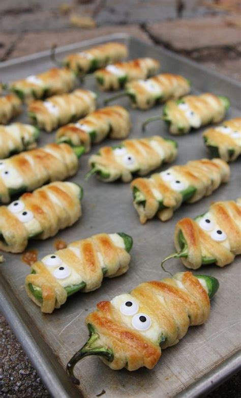kid friendly potluck appetizer hallowee 241 o jalape 241 o poppers recipe creepy and