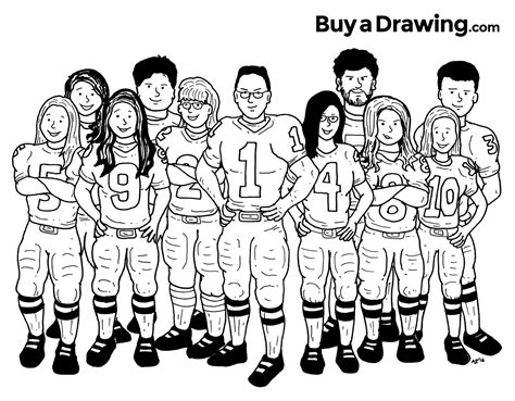 the b team the of the angry rapid reads books a 11 member family football caricature drawing done for a