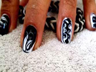 Ongle Noir Et Blanc Photo by Ongle En Gel Noir Et Blanc Deco Ongle Fr