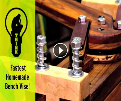 homemade bench vise incredible woodworking 187 unbelievably fast homemade bench