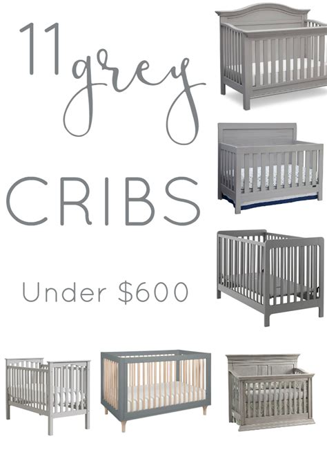 affordable baby cribs eleven affordable grey cribs the inspired hive