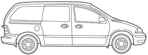 printable images of van van 43 transportation printable coloring pages