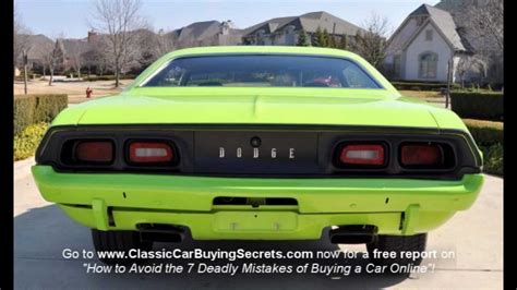 motor sales 1973 dodge challenger classic car for sale in mi