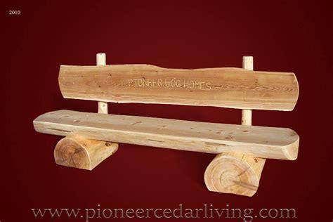 Cedar Log Bench Pioneer Cedar Living