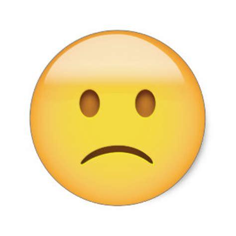 imagenes de emoji triste pegatinas emoji triste calcoman 237 as zazzle es