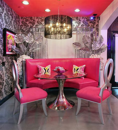 Pink Drapes Dining Room Furniture Decorations Dining Room Decoration Various