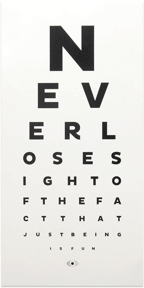 printable dot eye chart fun eye chart shop all shop the calm gallery