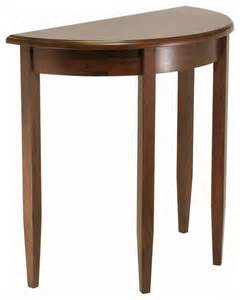 Half Moon Side Table Winsome Wood Concord Half Moon Accent Table Contemporary Console Tables By Beyond Stores