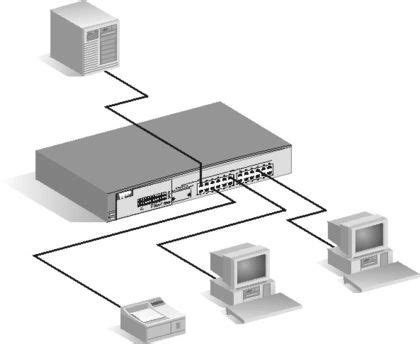 Router Server building a network with the use of the router server s switches