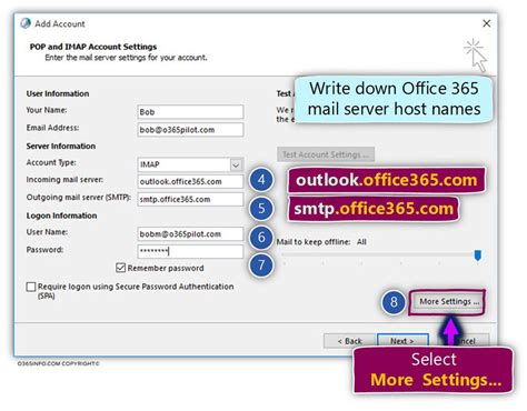 Office 365 Smtp Imap Smtp Outlook Configure Outlook To Access Office
