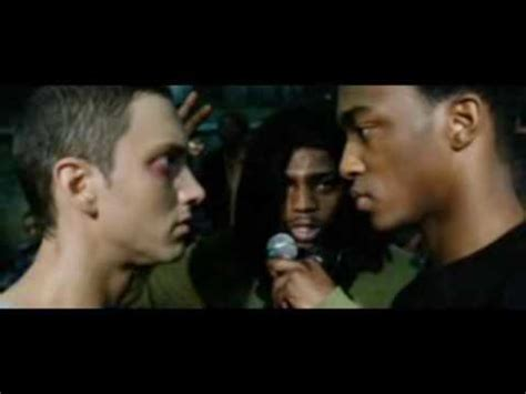 eminem movie phenomenon 8 mile final battle b rabbit vs papa doc hd youtube