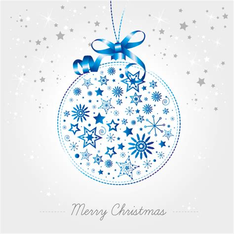 christmas ball vector ornament made of snowflakes greeting