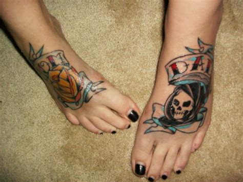 cool foot tattoos foot tattoos damn cool pictures