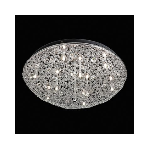Ceiling Lighting Uk Endon Echo 9ch Echo Chrome And Flush Ceiling Light Lighting From The Home Lighting