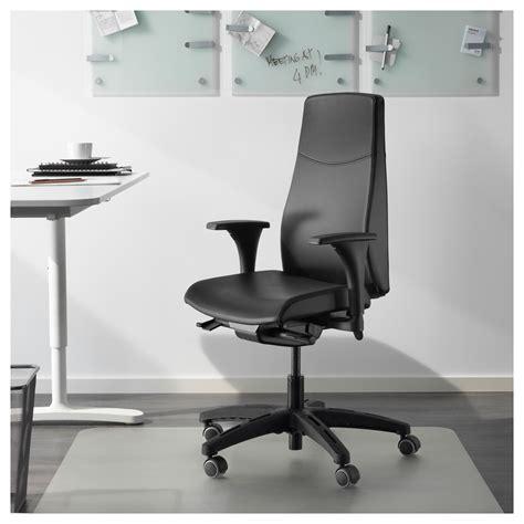 volmar swivel chair with armrests mjuk black ikea