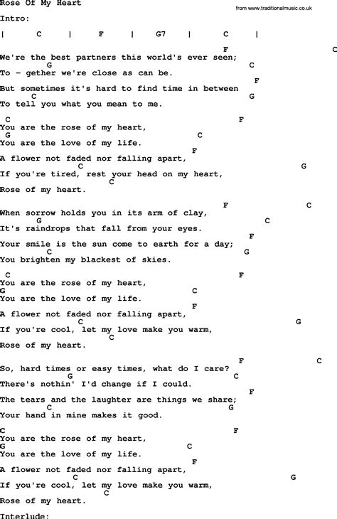 johnny song of my lyrics and chords