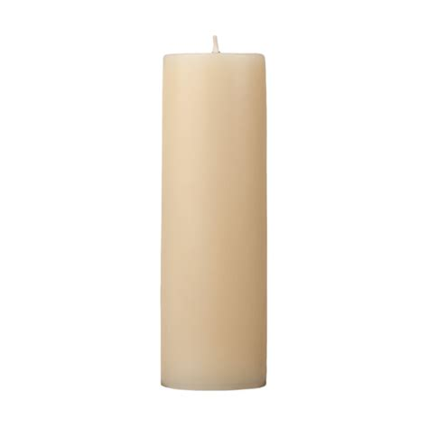 2x6 cream pillar candle