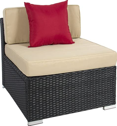 7 wicker sectional sofa best choice products 7pc wicker outdoor sectional sofa set
