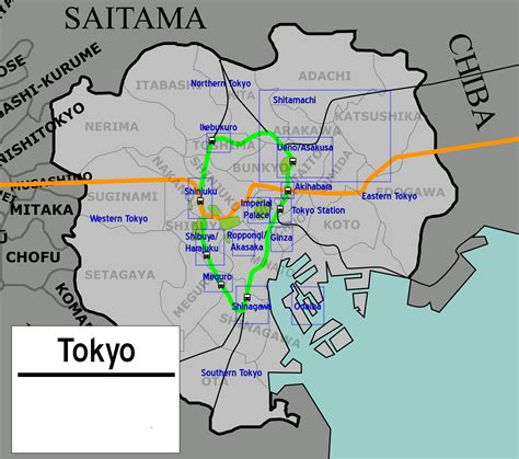 map of tokyo file tokyo map png wikimedia commons