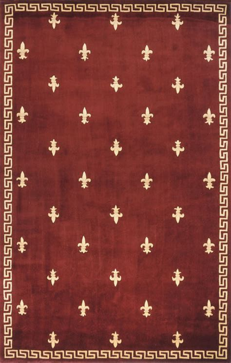 Fleur De Lis Runner Rug Momeni Harmony Burgundy Fleur De Lis Traditional Rug By Ruglots And Stair Runners