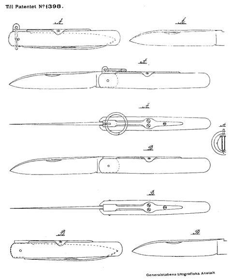 templates for knives the blade blog pocket knives swedish patents