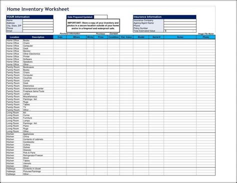 Home Inventory Spreadsheet Tool Inventory Spreadsheet Visiteedith Sheet Tire Inventory Template