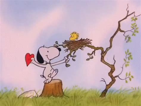 happy valentines day animated gif valentines day woodstock gif by peanuts find on
