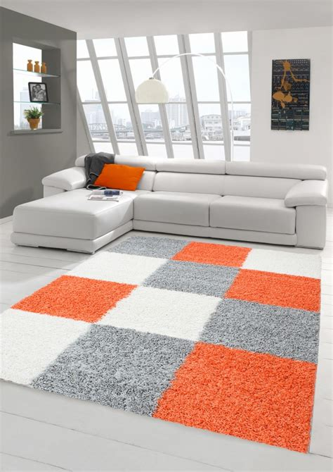 teppich orange grau teppich traum high quality high pile carpets conjure up