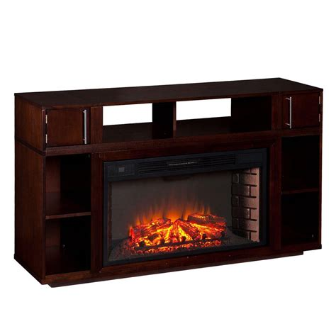 Real Flame Churchill 51 In Corner Media Console Electric Corner Electric Fireplaces Home Depot