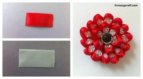 Handmade Ribbon Flowers Tutorial - ribbon flower diy tutorial handmade diy home tutorials