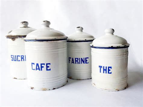 french kitchen canisters french kitchen canisters setwhite french enamelware french