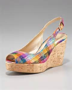 colorful wedge sandals stuart weitzman colorful wedge sandal in multicolor