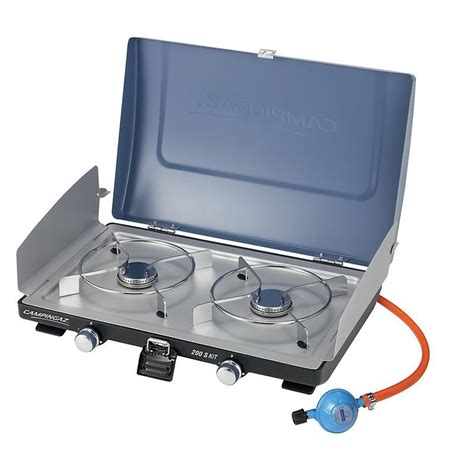 Kit 200 S Double Burner Camping Stove   Decathlon
