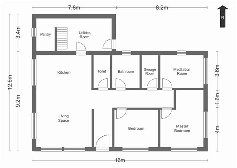 Hose Plan by Simple House Plan With Measurements Www Pixshark