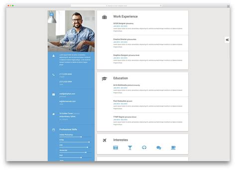 Best Resume Website Templates Sle Resume Cover Letter Format Resume Website Template Free