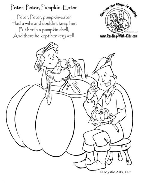 Beautiful Peter Pumpkin School Ryhmeskids With Nursery Beautiful Coloring Pictures For Rhymes