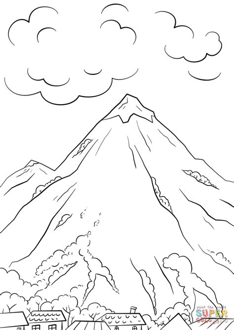 Mountain Coloring Pages Print mountain coloring page free printable coloring pages